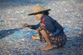 Fishing Village - Ngapali Beach - Myanmar Stock Photos