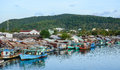 The fishing village in Phu Quoc, Vietnam Royalty Free Stock Photo