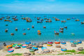 Fishing village, Vietnam Royalty Free Stock Photography