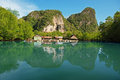 Fishing village on water thailand countryside Stock Image