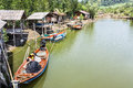 Fishing villages at the tropical rainforest Royalty Free Stock Photography