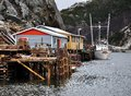 Fishing wharf in fjord  Stock Image