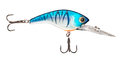 Fishing wobbler a blue with two anchor hooks Stock Image