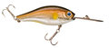 Fishing wobbler a brown and yellow with two anchors hooks Stock Images