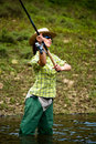 Fishing for woman Royalty Free Stock Images