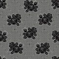 Fishnet floral pattern seamless of black roses against background Royalty Free Stock Photo