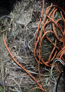 Fishnet and rope ready for use Royalty Free Stock Images
