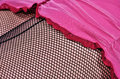 Fishnet stockings and lace close up look to the woman s Royalty Free Stock Images