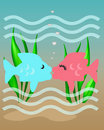 Fishy kiss Royalty Free Stock Images