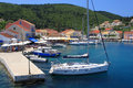 Fiskardo on the greek island of Kefalonia Royalty Free Stock Photos