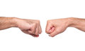 Fist bump isolated in white Stock Image