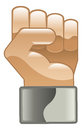 Fist clipart icon hand power illustration Stock Image