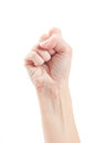 Fist. Gesture of the hand Royalty Free Stock Image