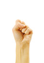 Fist gesture hand white background Stock Photography