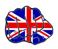 Fist nation fight england uk united kingdom with colors of the country Stock Photo