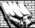 Fist protest strike revolution graffiti vector Royalty Free Stock Photo
