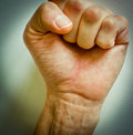 Fist raised up Stock Image