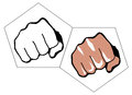 Fists illustration of two on white background Royalty Free Stock Photography