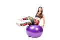 Fit ball Royalty Free Stock Photo
