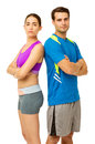 Fit Couple In Sports Clothing ...