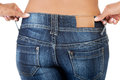 Fit female in jeans butt Royalty Free Stock Photos