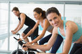 Fit People In A Spin Class Wit...