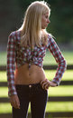 Fit Teenage Model Outdoors Royalty Free Stock Photo