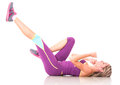 Fit woman exercising Stock Photography