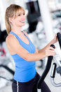 Fit woman at the gym Stock Photos