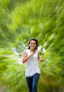 Fit woman jogging Stock Photography