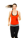 Fit woman jogging Stock Image
