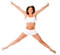 Fit woman jumping Royalty Free Stock Photos