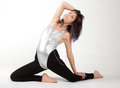 Fit Woman in Leotard and Leggings Royalty Free Stock Photo
