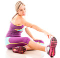 Fit woman stretching Royalty Free Stock Photo