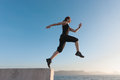 Fit women jumping Royalty Free Stock Photography