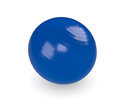 Fitness ball one blue on white d render Stock Photos