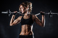 Fitness with barbell Royalty Free Stock Photo