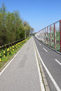 Fitness and bike lane track outdoor sport Stock Image