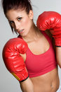 Fitness Boxing Woman Royalty Free Stock Photo