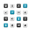 Fitness buttons Stock Photos
