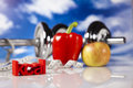 Fitness calorie healthy lifestyle concept diet and Stock Image