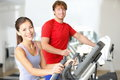 Fitness center people Royalty Free Stock Images