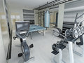 Fitness center techno style Royalty Free Stock Photo