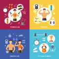 Fitness Club Healthy Life Concept Royalty Free Stock Photo