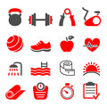 Fitness club icons set vector eps Royalty Free Stock Photo