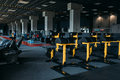 Fitness club interior. Gym nobody Royalty Free Stock Photo