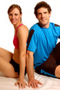Fitness couple Royalty Free Stock Photos