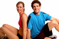Fitness couple relaxing Stock Photography