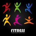 Fitness design over black background vector illustration Royalty Free Stock Photos