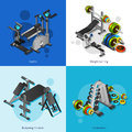 Fitness Equipment Image Set Royalty Free Stock Photo